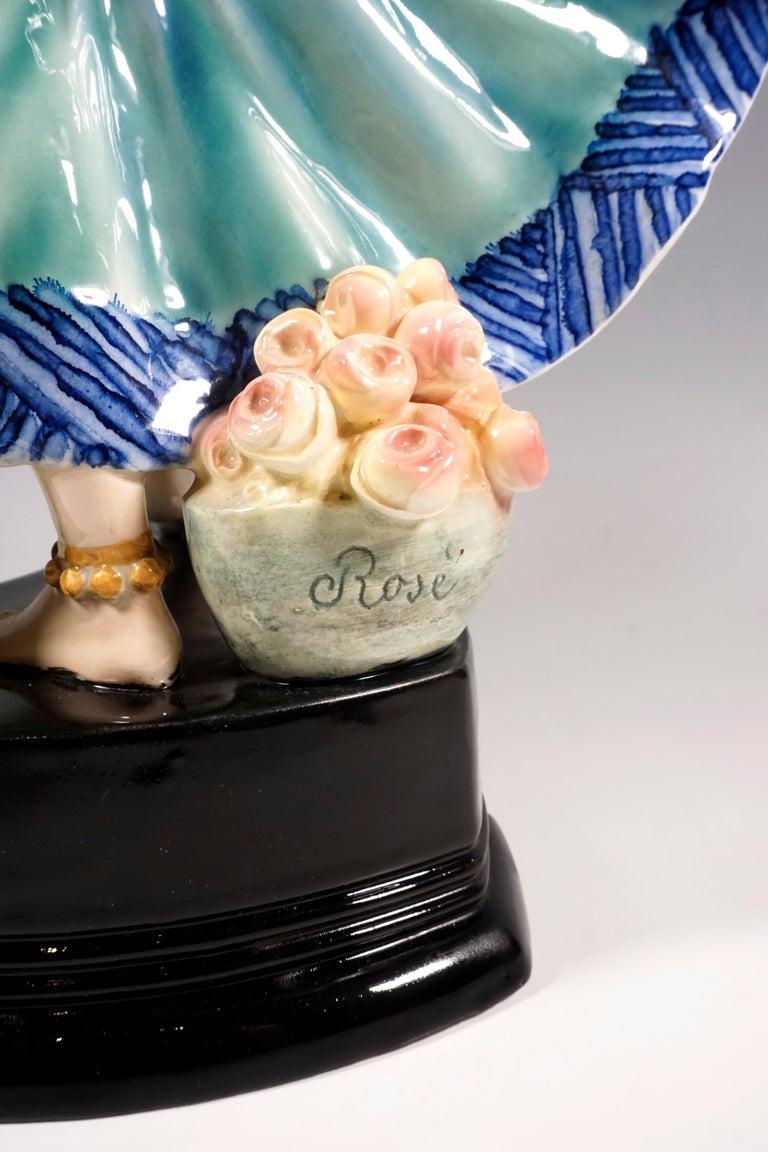 Goldscheider Vienna Art Deco Figure, 'Ruth' Dancer in Oriental Costume by Rosé For Sale 1