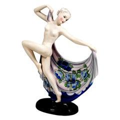 Goldscheider Vienna Art Déco Figurine 'Adagio' by Josef Lorenzl, circa 1940