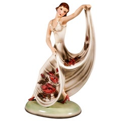 Goldscheider Vienna Art Déco Figurine 'Dance' by Stephan Dakon, circa 1938