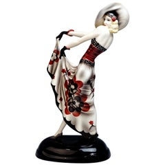 Goldscheider Vienna Art Deco Figurine 'The Blonde Dream' by Stephan Dakon