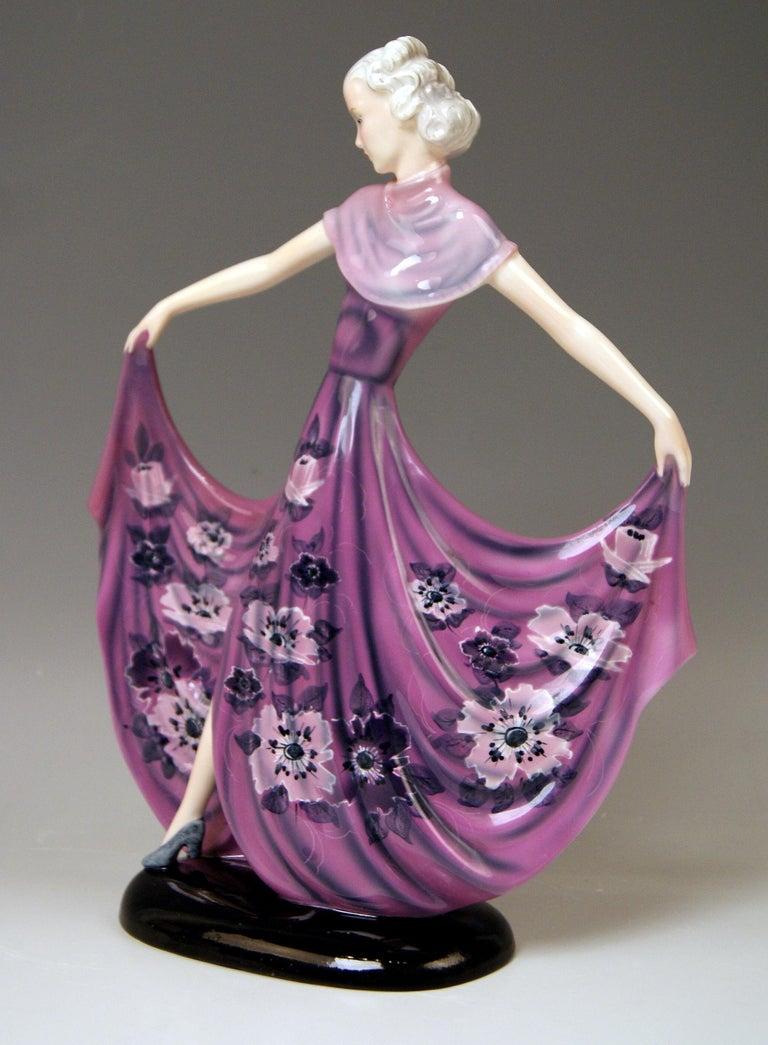 Art Deco Goldscheider Vienna Dakon Lady Dancer Susette Lilian Harvey Model 8083 Made 1938 For Sale