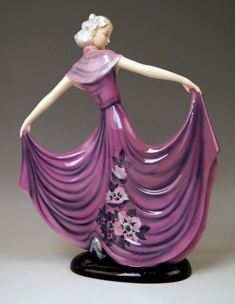 Austrian Goldscheider Vienna Dakon Lady Dancer Susette Lilian Harvey Model 8083 Made 1938 For Sale