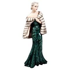 Goldscheider Vienna Figurine 'Evening Dress' by Claire Herczeg, circa 1938