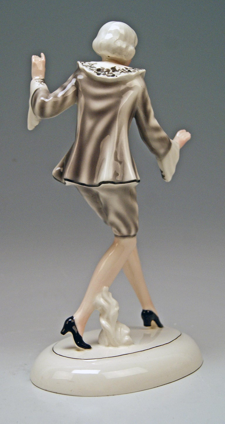 Austrian Goldscheider Vienna Lady Dancer Clotilde Von Derp Model 6248 Lorenzl, circa 1930 For Sale