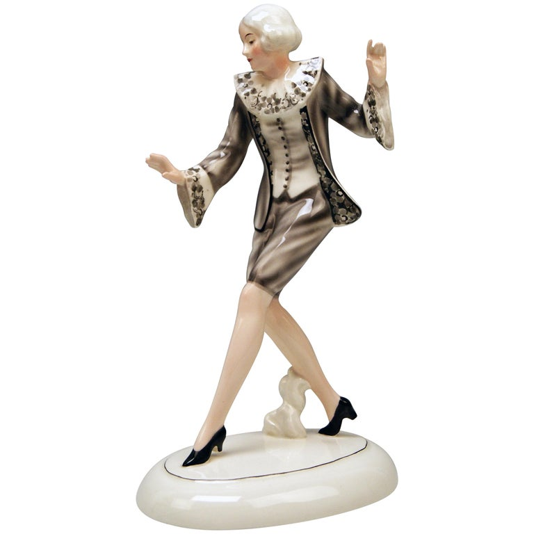 Goldscheider Vienna Lady Dancer Clotilde Von Derp Model 6248 Lorenzl, circa 1930 For Sale