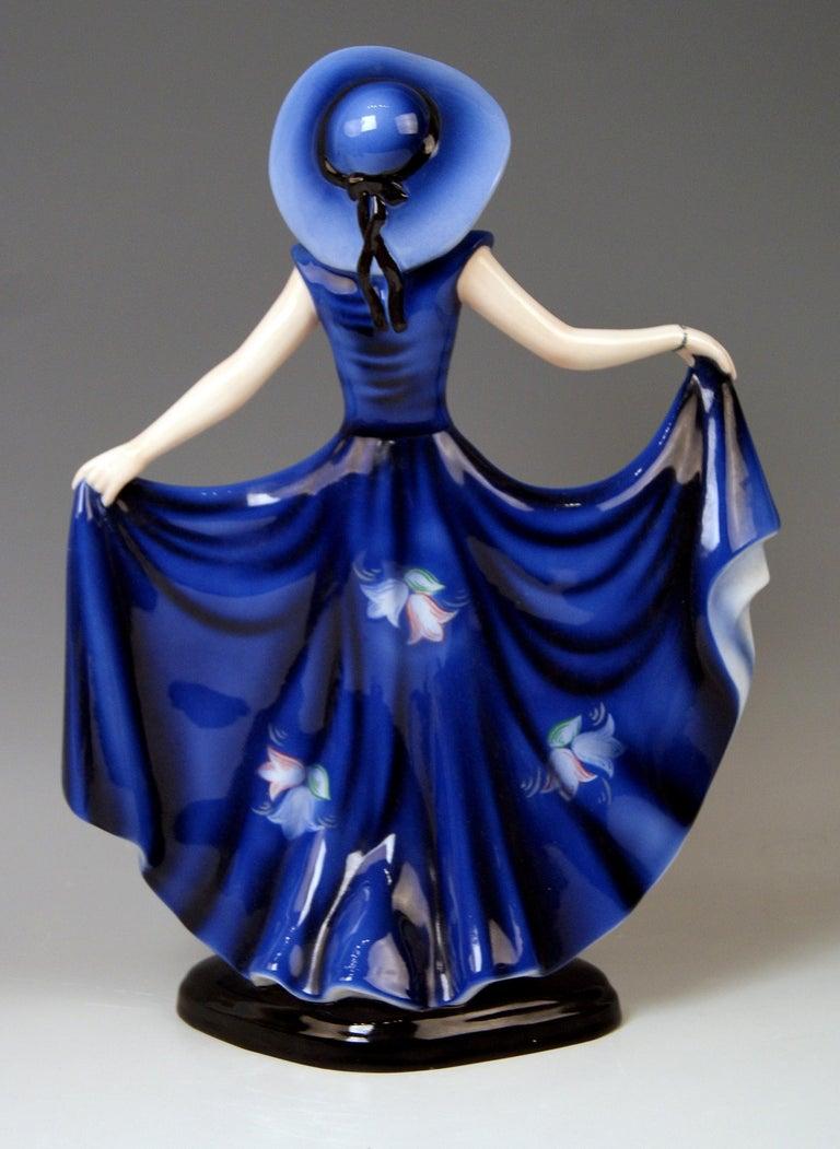 Austrian Goldscheider Vienna Lady Dancer Liane Wide-Brimmed Hat Model 7581 Lorenzl For Sale