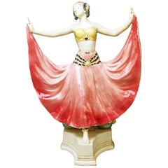 Goldscheider Vienna Lady Dancer Ruth, Rosé Model 4141 Early Made circa 1912-1913