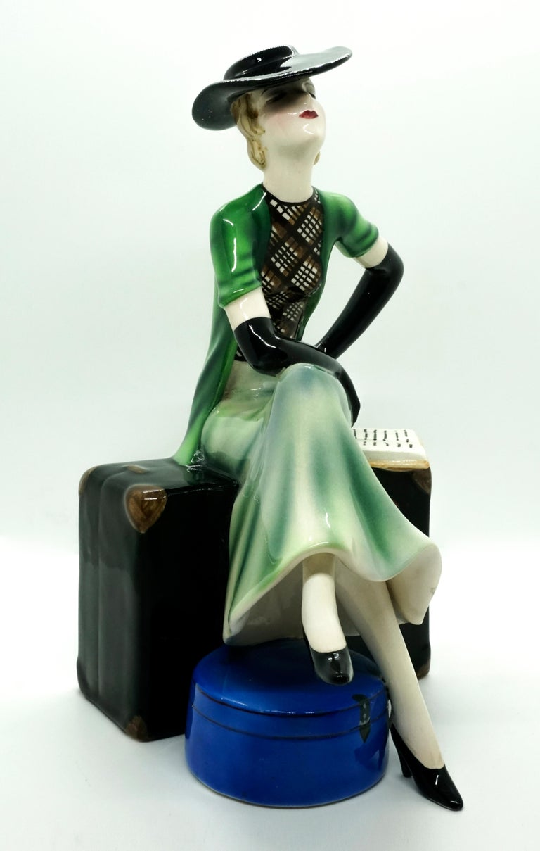Rare Goldscheider Art Deco ceramic figurine.