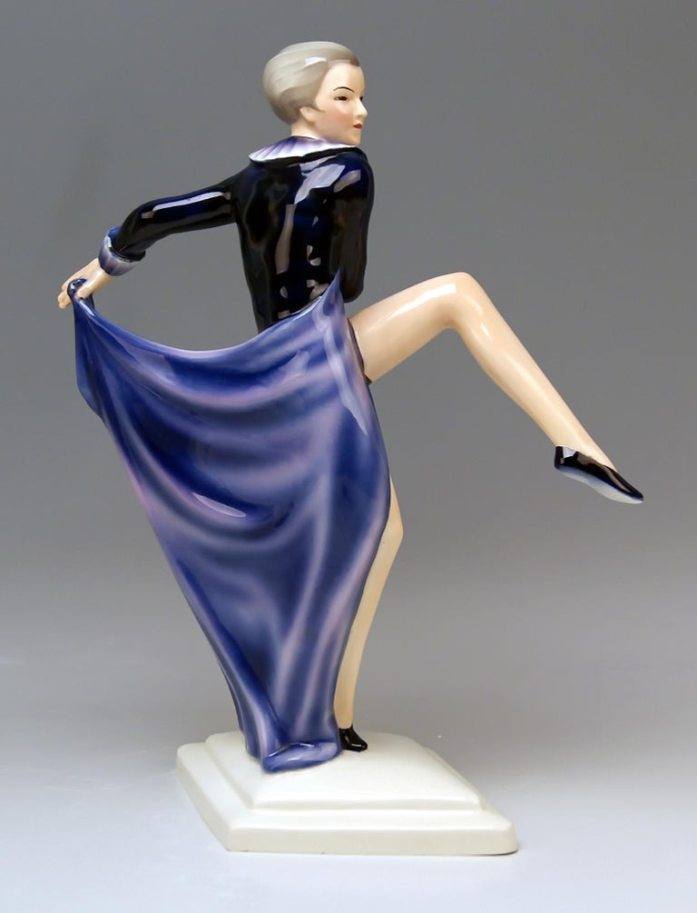 Goldscheider vienna very interesting as well as rare dancingy lady figurine.