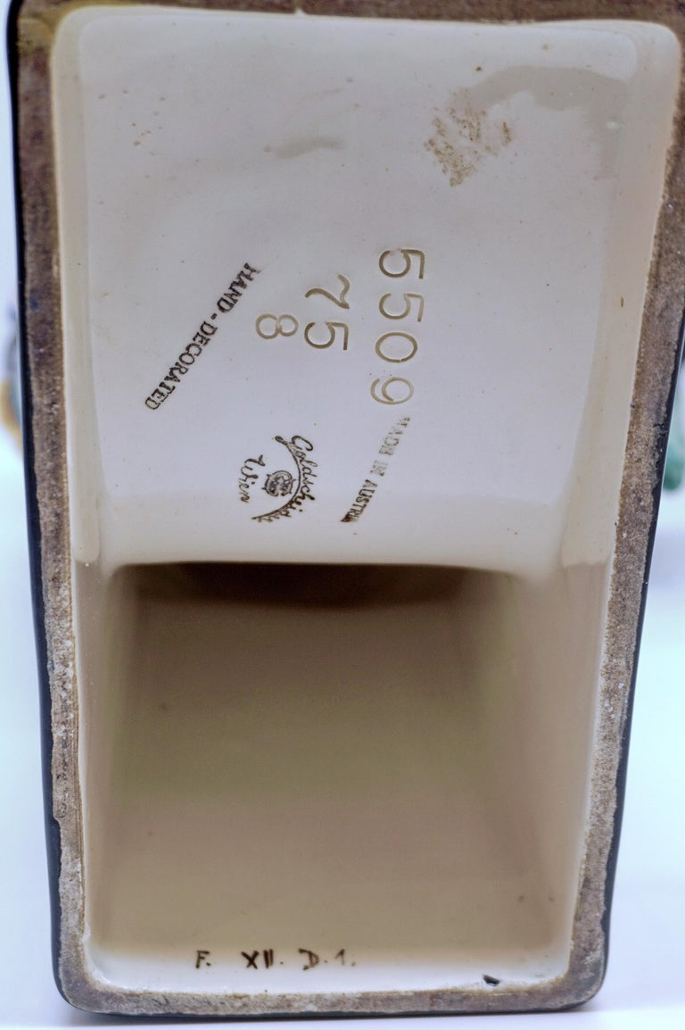 Goldscheider Vienna Till Eulenspiegel Owlglass by Josef Lorenzl   Height 35.0 cm For Sale 2
