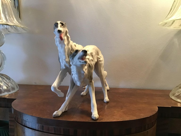 "Other Goldsheider ""Levrieri""Ceramic 1950 Italy  For Sale"