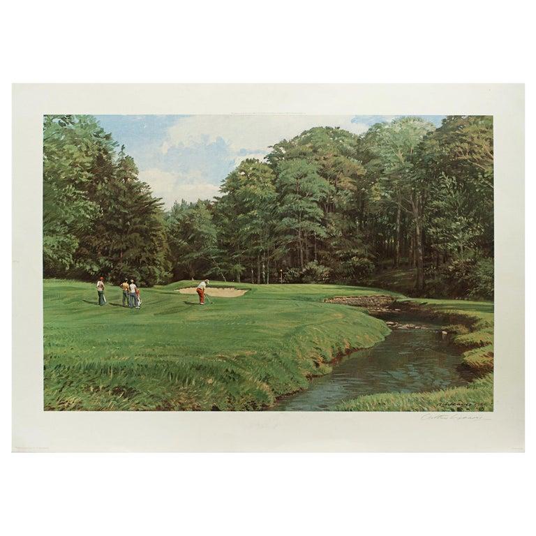 Golf Art, Merion Golf Club, Golf Print, Arthur Weaver