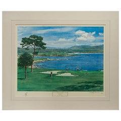 Golf Art, Pebble Beach Golf Print, Arthur Weaver
