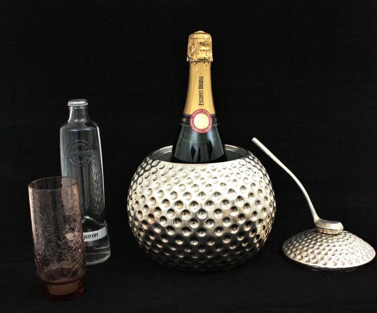 Golf Ball Ice Bucket Wine Cooler by Valenti, Spain, 1960s 6