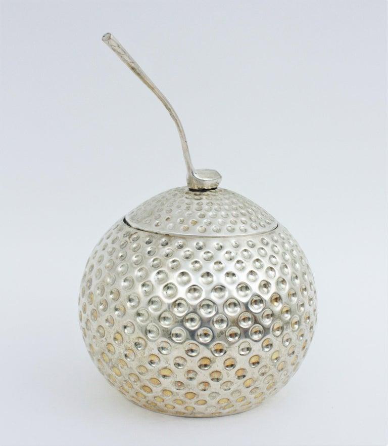 Cast Golf Ball Ice Bucket Wine Cooler by Valenti, Spain, 1960s