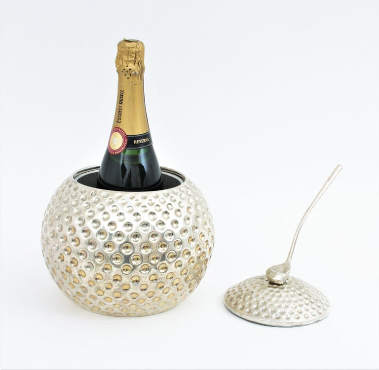Golf Ball Ice Bucket Wine Cooler by Valenti, Spain, 1960s In Good Condition In Barcelona, ES