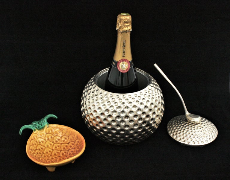20th Century Golf Ball Ice Bucket Wine Cooler by Valenti, Spain, 1960s