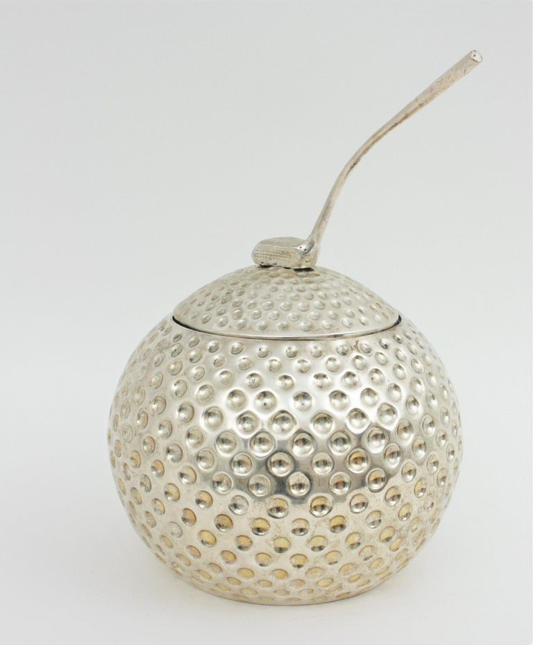 Metal Golf Ball Ice Bucket Wine Cooler by Valenti, Spain, 1960s