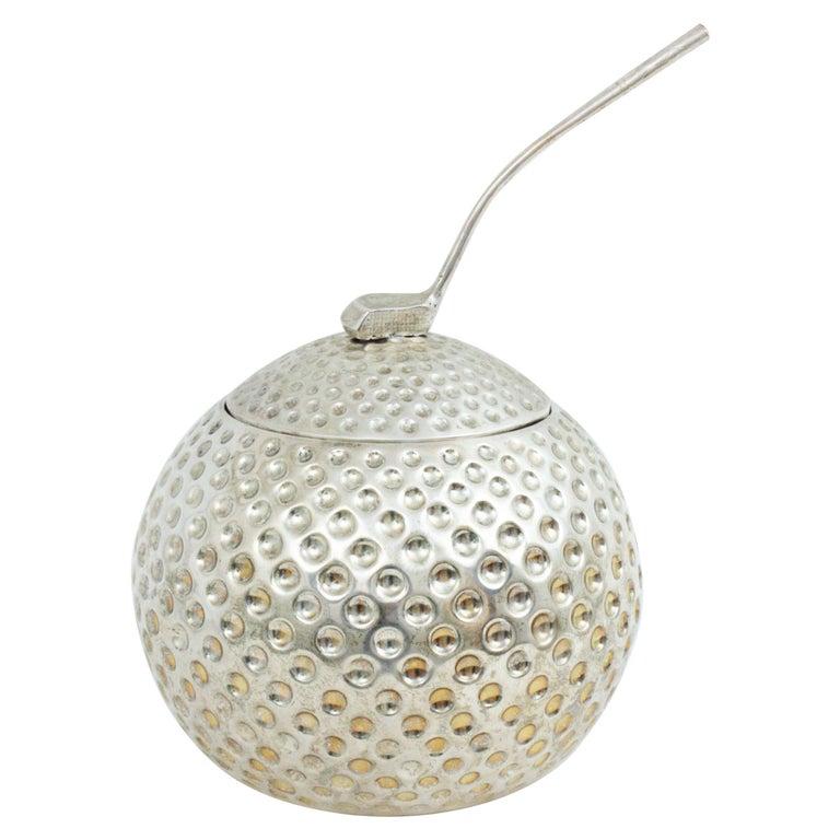 Golf Ball Ice Bucket Wine Cooler by Valenti, Spain, 1960s