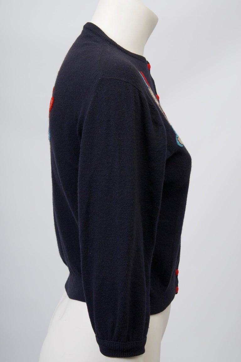 Women's Golf Motif Cashmere Cardigan For Sale