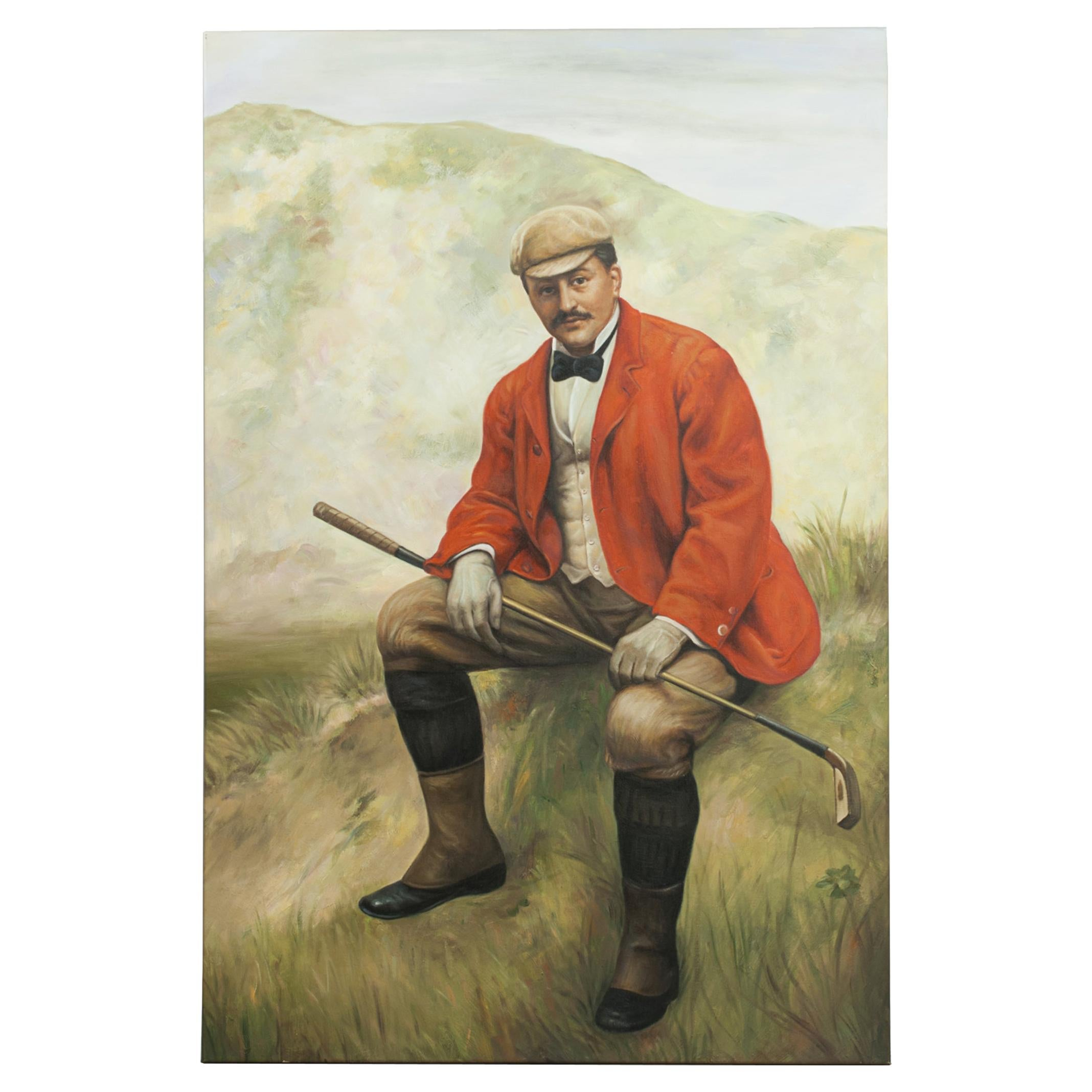 Golf Oil Painting of Dr. William Laidlaw Purves by Hon. John Collier