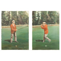Golf Painting of Jack White of Sunningdale, Golf Pro and Club Maker