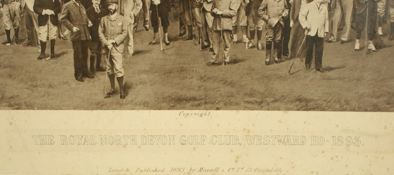 Sporting Art Antique Golf Print, Royal North Devon Golf Club, Photogravure of Westward Ho For Sale