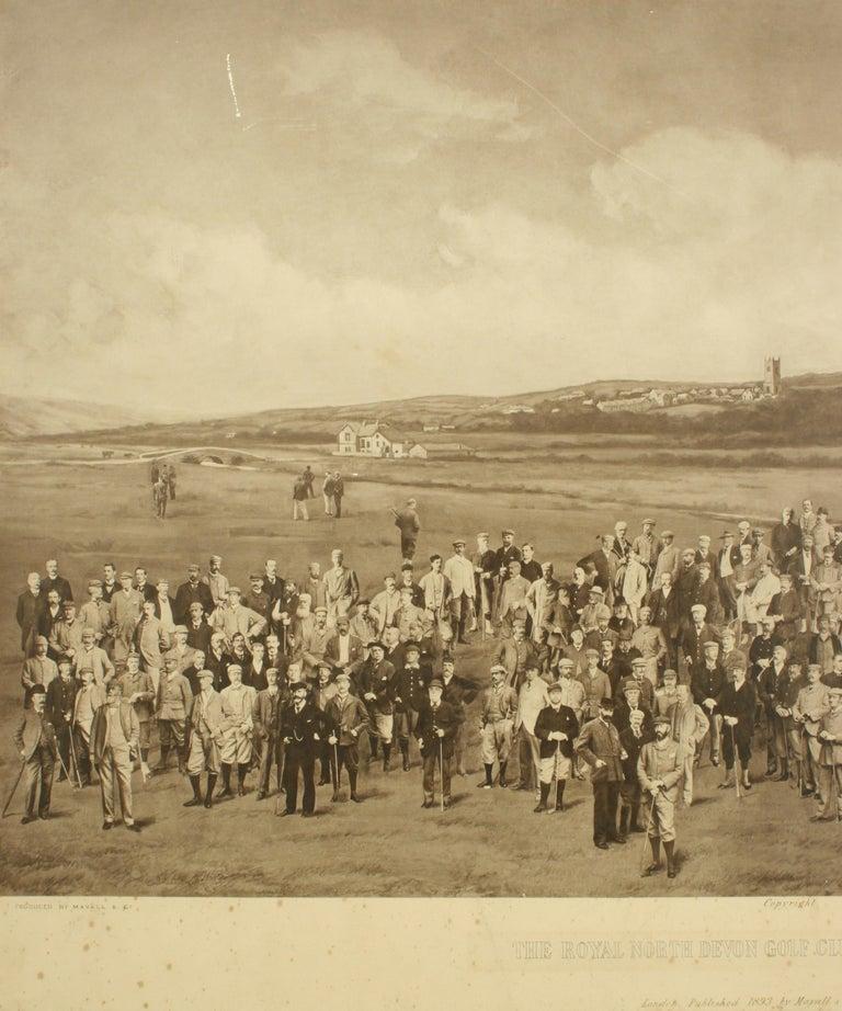 British Antique Golf Print, Royal North Devon Golf Club, Photogravure of Westward Ho For Sale