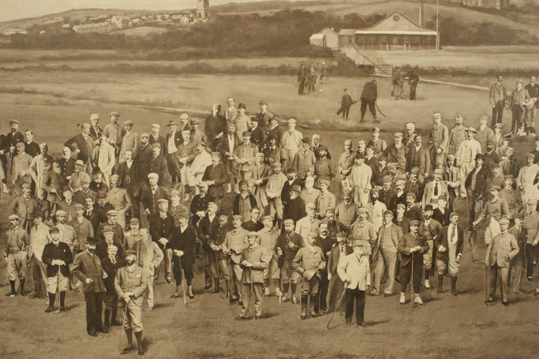 Antique Golf Print, Royal North Devon Golf Club, Photogravure of Westward Ho In Good Condition For Sale In Oxfordshire, GB