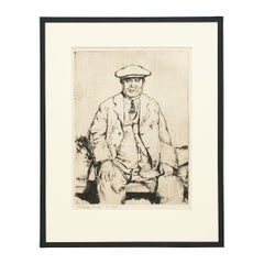 Golf Picture, Andrew Kirkaldy, St Andrews Etching