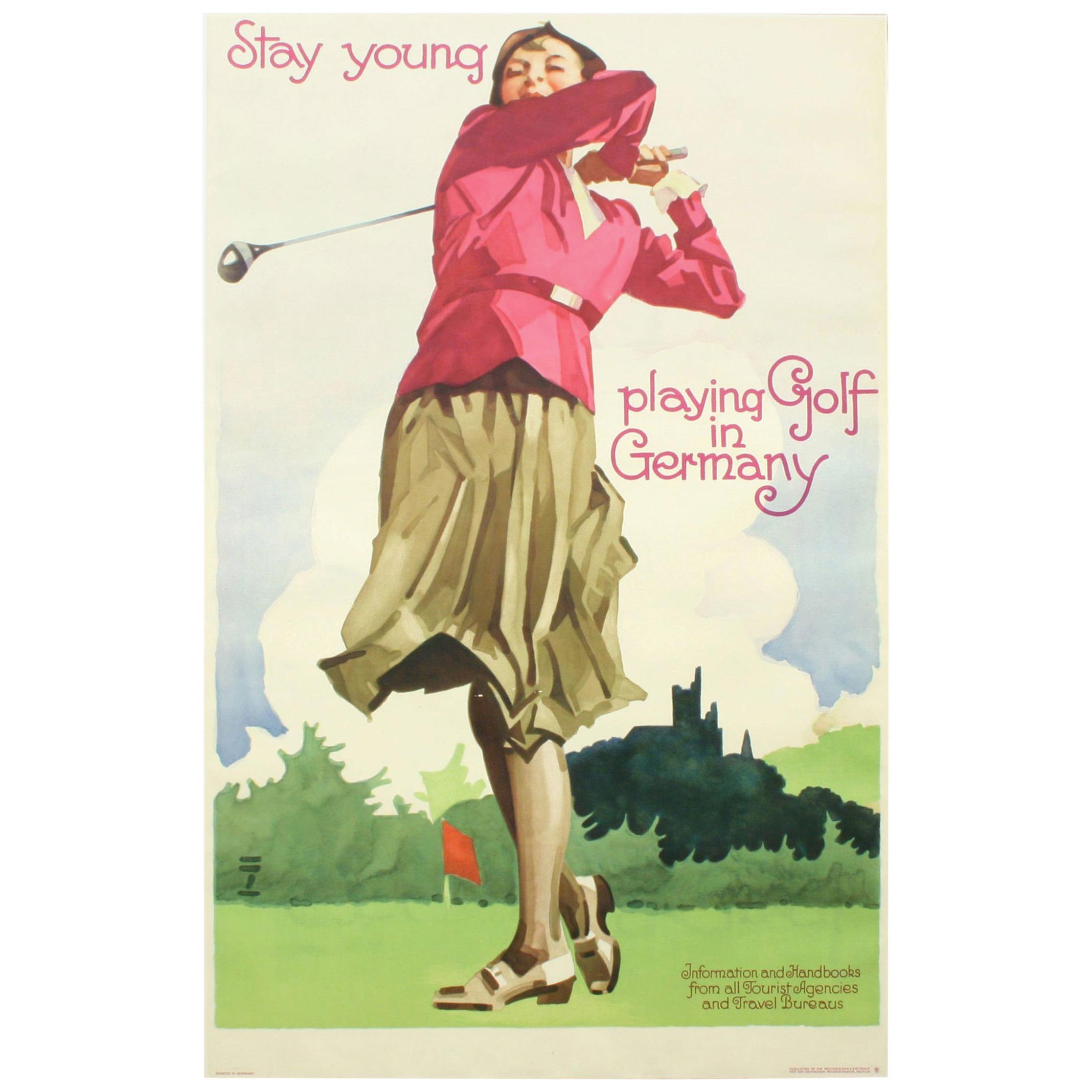 Golf Poster, Golf in Germany, Ludwig Hohlwein