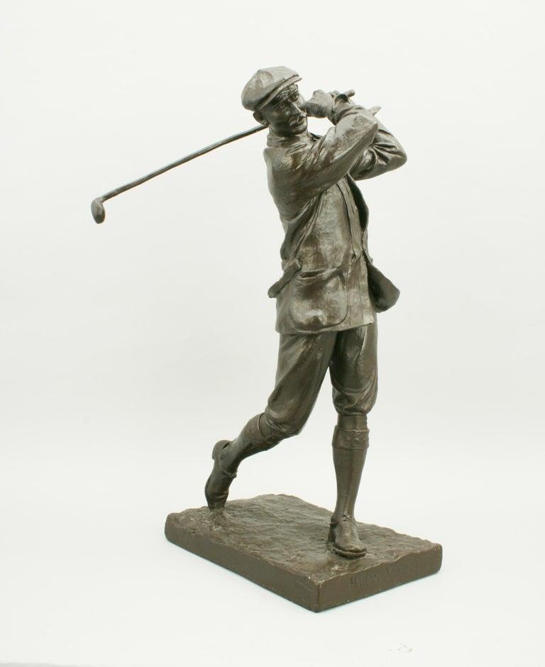 Sporting Art Golf Sculpture, Harry Vardon For Sale