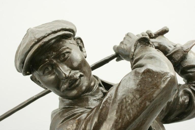 Early 20th Century Golf Sculpture, Harry Vardon For Sale