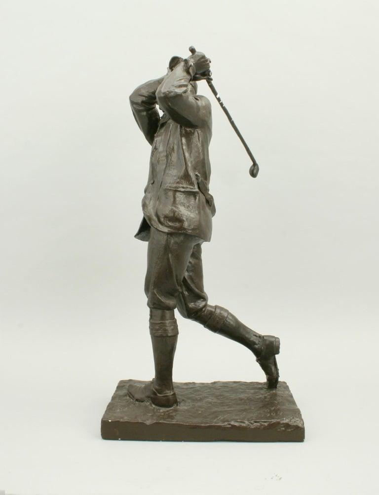 Golf Sculpture, Harry Vardon For Sale 1