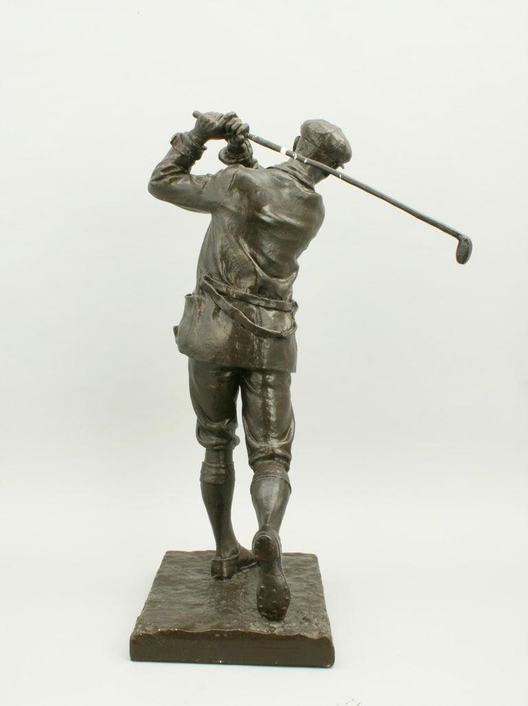 Golf Sculpture, Harry Vardon For Sale 2
