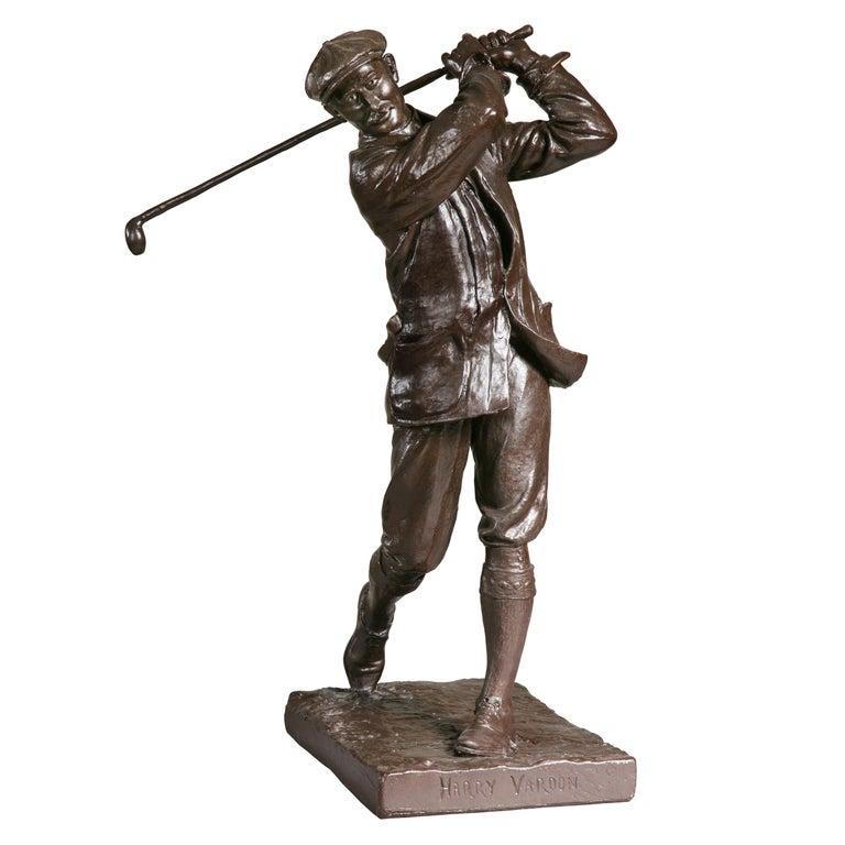 Golf Sculpture, Harry Vardon For Sale