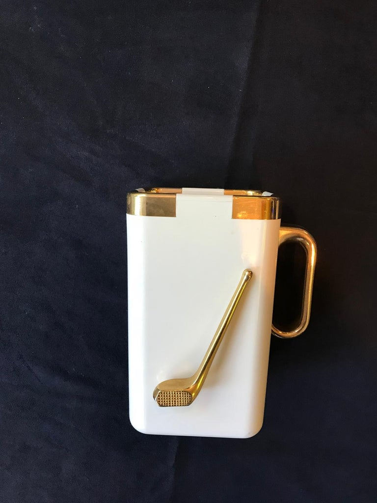 Gold Plate Golf Vintage Turnwald Ice Bucket For Sale
