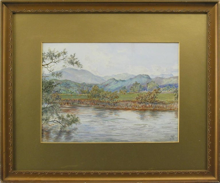 20th Century Golf Watercolor Painting