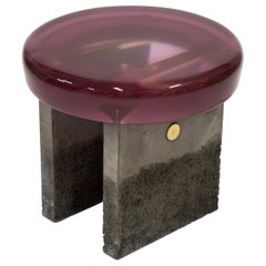Golia Stool by Draga&Aurel Resin and Brass, 21st Century