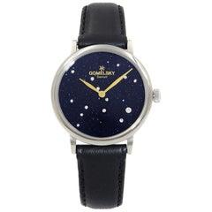 Gomelsky Agnes Varis Steel Sparkling Blue Black Dial Women's Watch G0120023288