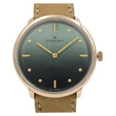 Gomelsky Audrey 6 Gold Tone Steel Green Dial Quartz Ladies Watch G0120147279