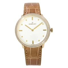 Gomelsky Audry Steel Gold-Plated Diamond White Dial Ladies Watch G0120112280
