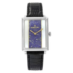 Gomelsky Shirley Fromer Steel MOP and Blue Dial Quartz Ladies Watch G0120083080
