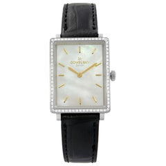 Gomelsky The Shirley Mother of Pearl Dial Steel Leather Ladies Watch G0120072639