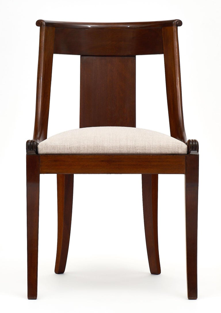 French Gondola Empire Style Dining Chairs For Sale