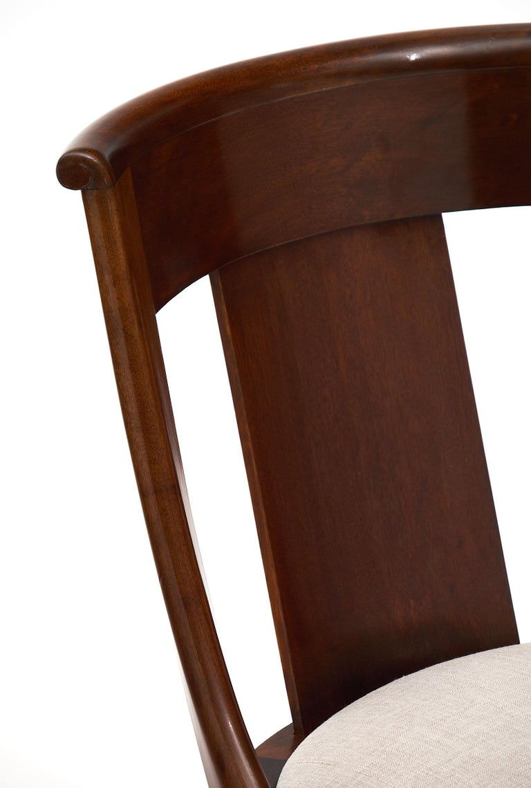 Gondola Empire Style Dining Chairs In Good Condition For Sale In Austin, TX