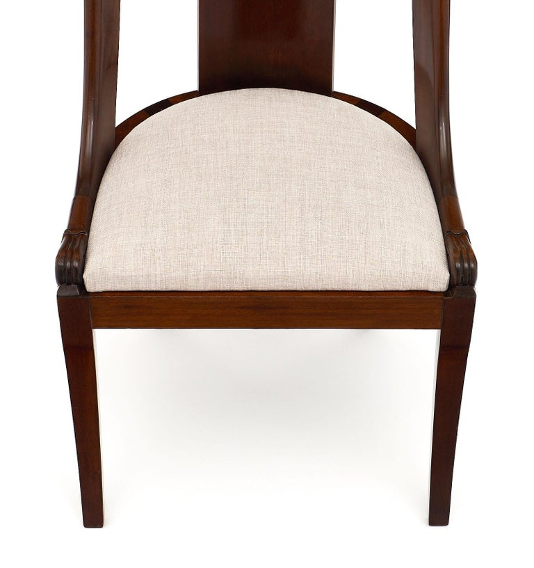 Late 19th Century Gondola Empire Style Dining Chairs For Sale