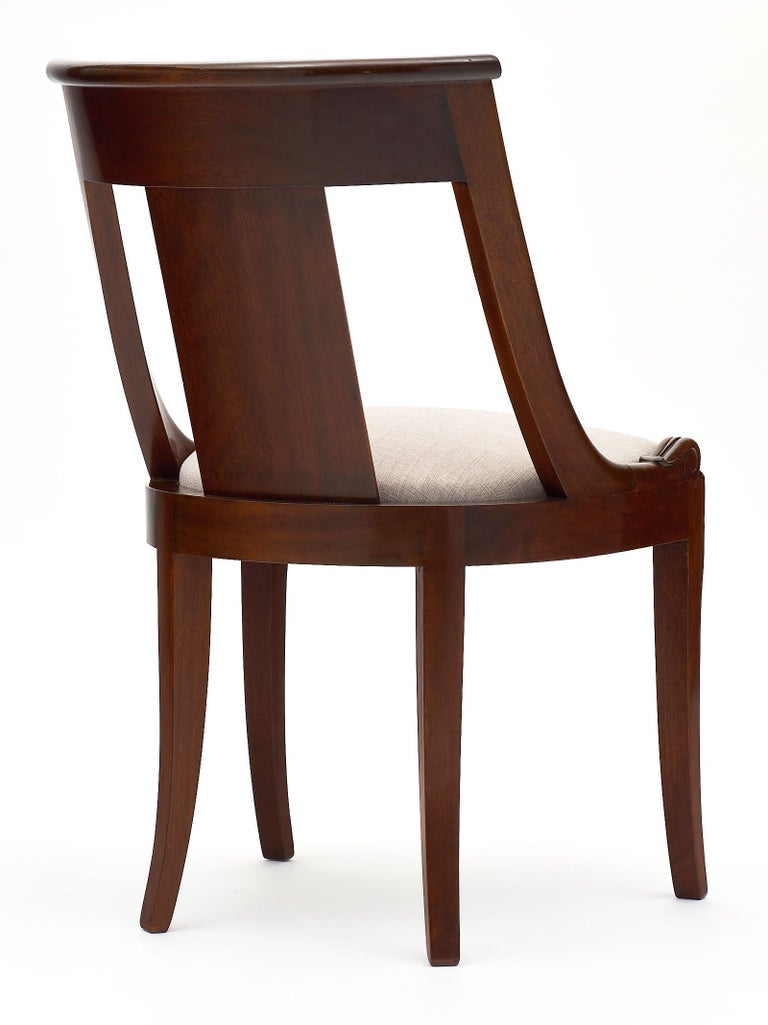 Gondola Empire Style Dining Chairs For Sale 2