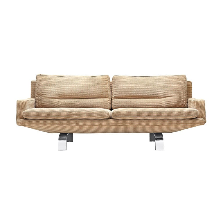 \'Gondola\' Sofa in Beige Patterned Fabric by Saporiti