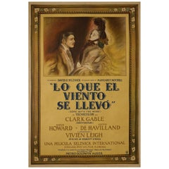 """""""Gone with the Wind"""" 1939 Argentine Film Poster"""